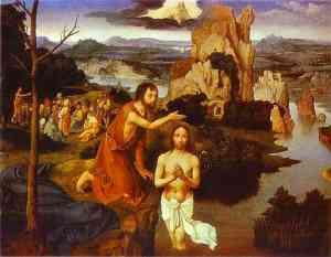 Joachim PATENIER The Baptism of Christ (1515) Kunsthistorisches Museum, Vienna